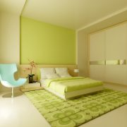 Miegamojo baldai -lova, spinta